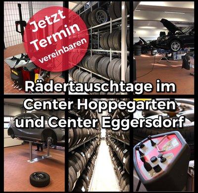[Translate to English:] Rädertauschaktion beim Autodienst Hoppegarten