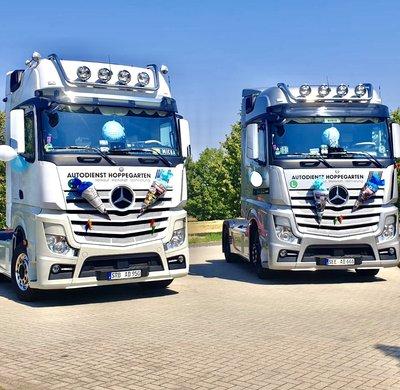 Unsere Trucks bei der Einschulung in Hoppegarten