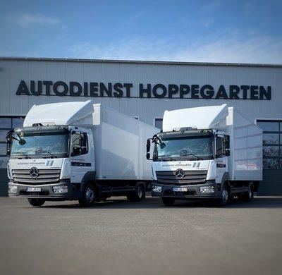 2 neue Atego 821L für unsere Fahrzeugvermietung