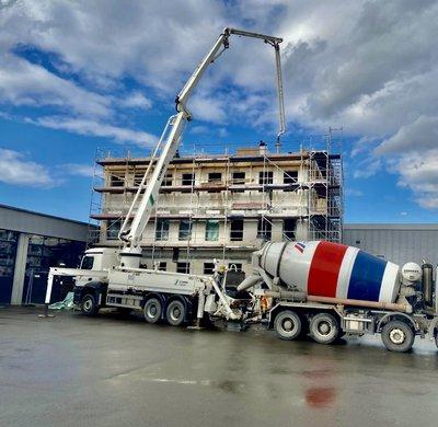Baufortschritt beim neuen Kundencenter NFZ