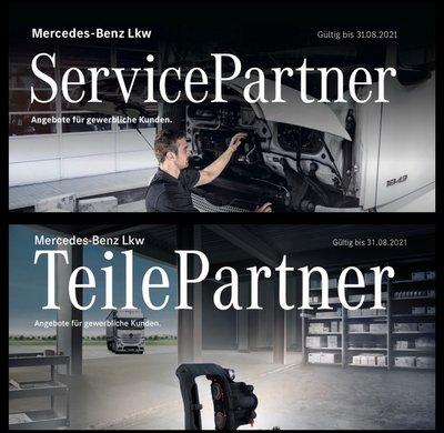 Die neuen Nfz Service- und Teilepartner Flyer